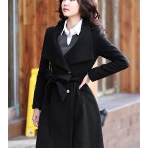 Women Wool Blend Winter Fashion Sli..