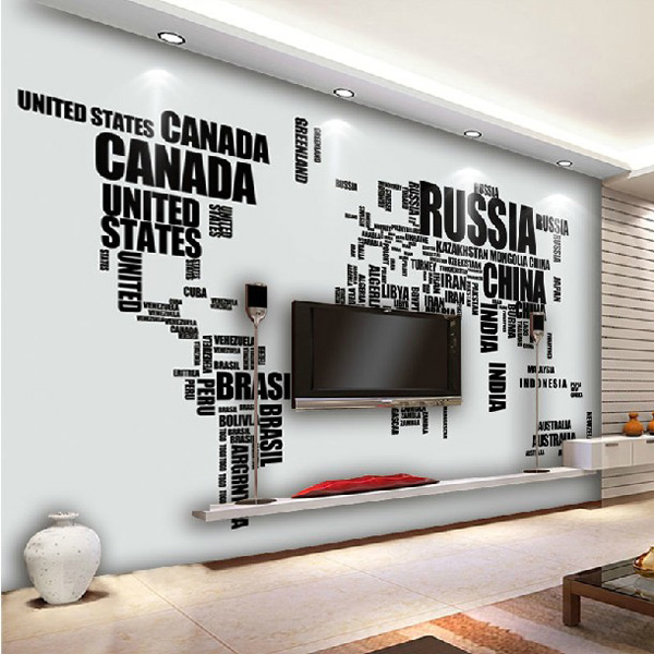 Large english alphabet world map removable wall stickers decal on luulla large english alphabet world map removable wall stickers decal gumiabroncs Image collections